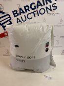 Simply Soft 10.5 Tog Duvet, Single
