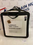 Supersoft Teddy Fleece Synthetic 10.5 Tog Duvet, Double