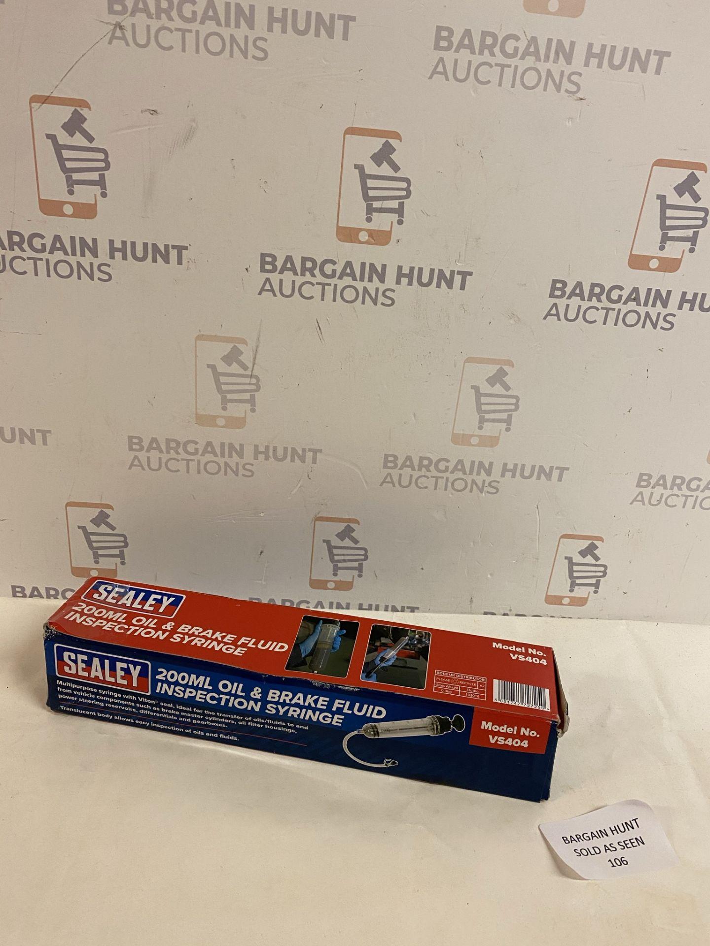 Sealey 200ml Oil & Brake Fluid Inspection Syringe