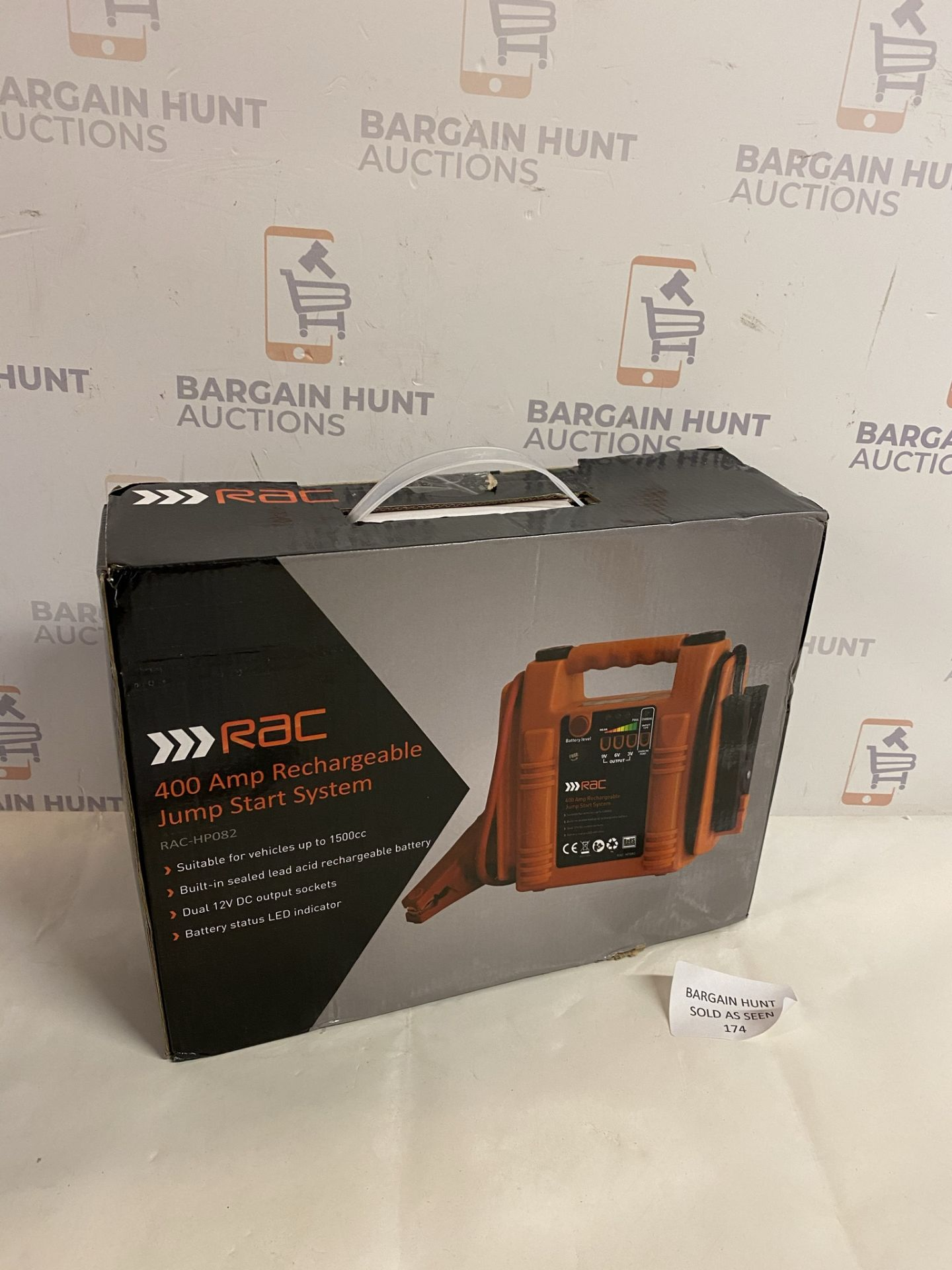 RAC 400 Amp Recahrgeable Jump Start System RP £45