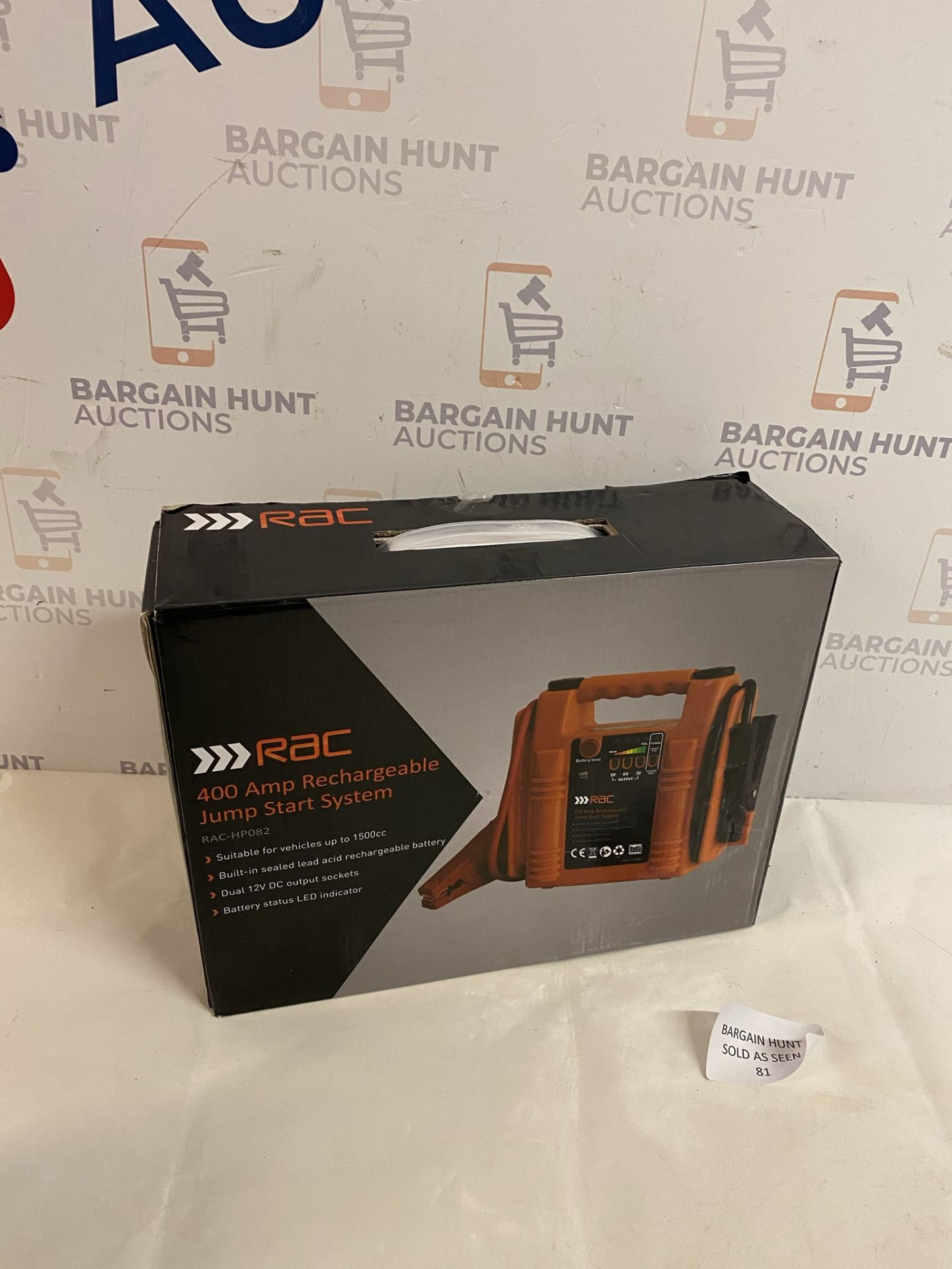 RAC 400 Amp Rechargeable Jump Start System RRP £45
