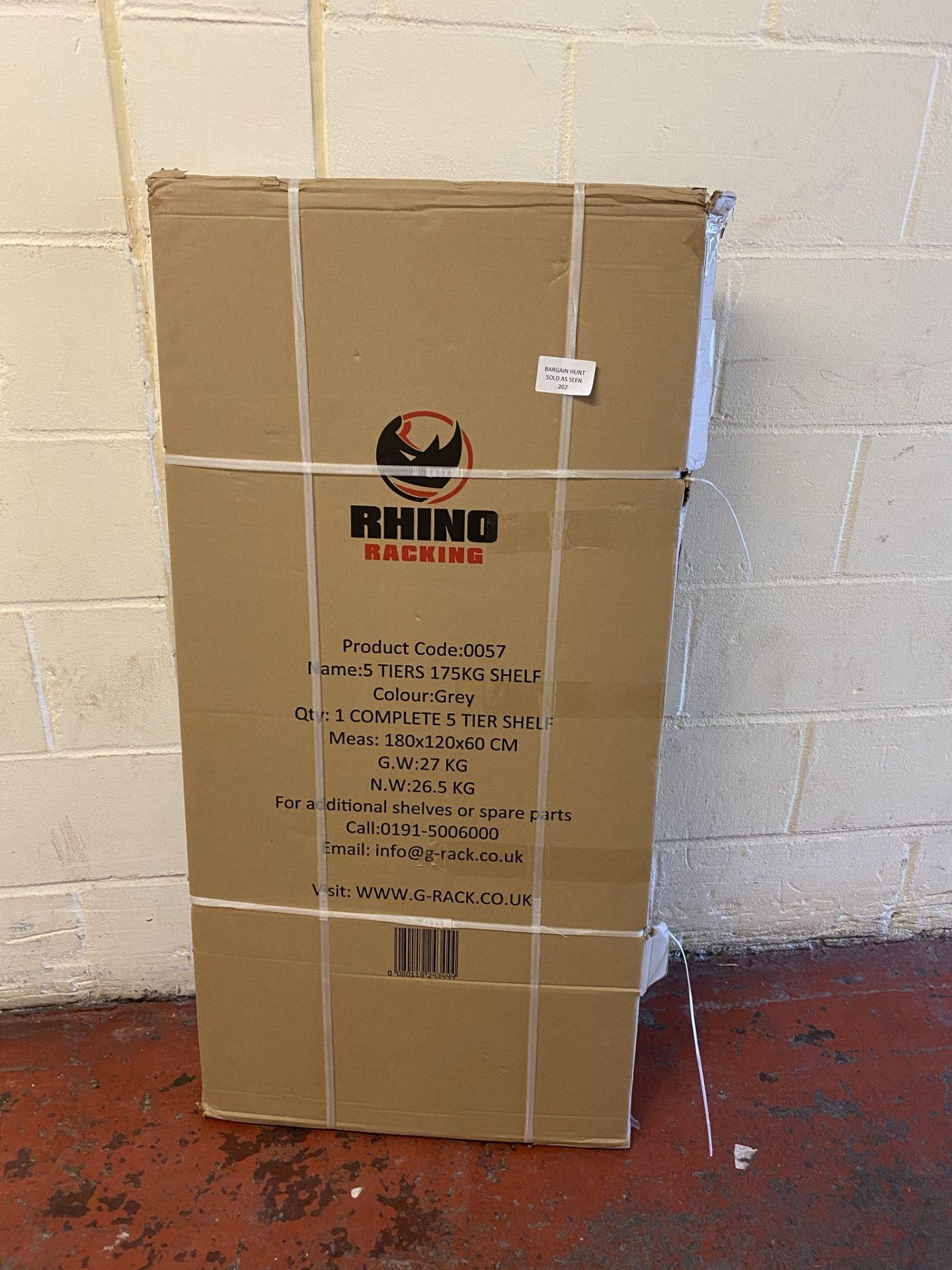 Rhino Racking Heavy Duty Stand Alone 5 Tier Industrial Shelving Unit