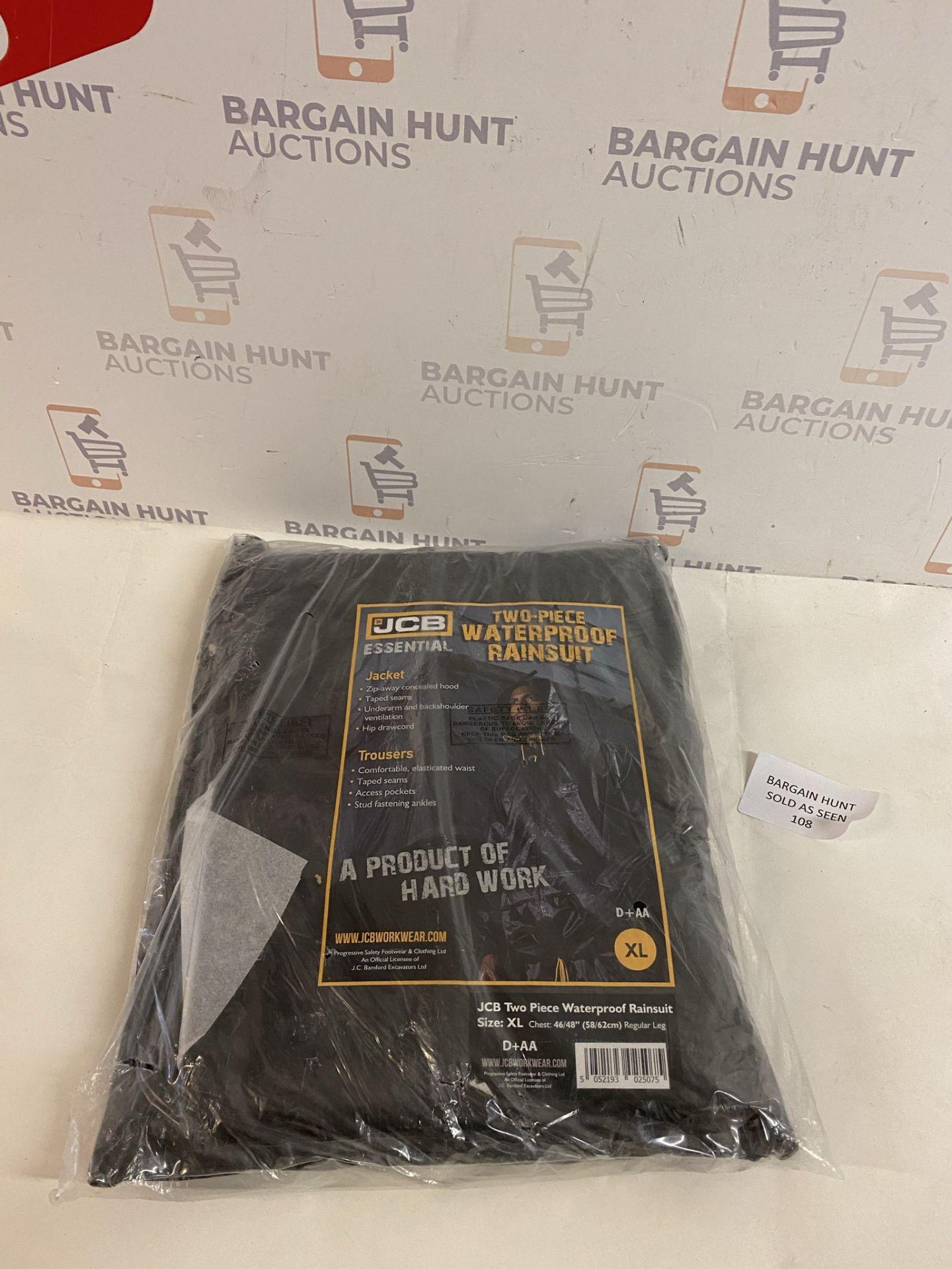 JCB Workwear Waterproof 2-Piece Rainsuit, XL