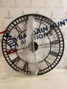 Large Metal Skeleton Wall Clock RRP £89