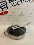 Stainless Steel 28cm Large Non-Stick Sauté Pan RRP £49.50