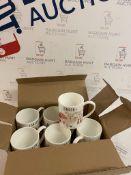 Fine Bone China Set of 6 London Souvenir Mugs