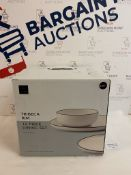 Tribeca Stoneware Rim 12 Piece Dining Set RRP £39.50