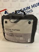 Goose Feather & Down Natural Mattress Topper, Double RRP £170