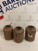 Set of 3 Ceramic Lanterns