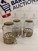 Glass Cork Dispenser, Set of 3