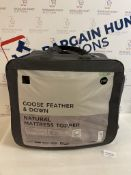 Goose Feather & Down Natural Mattress Topper, King Size RRP £185