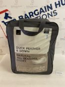 Duck Feather & Down Natural All Seasons 13.5 Tog Duvet, Double RRP £75