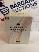 Supremely Washable 4.5 Tog Duvet, Single