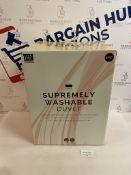 Supremely Washable 13.5 Tog Duvet, Super King RRP £49.50