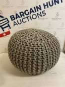 Knitted Foot Pouffe