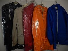 5 coats/Jackets - 4 are Water proof/ Shower proof and 1 is a cloth Jacket