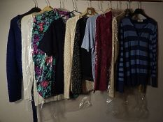 10 tops/Jumpers all size 10-12 to include Marks and Spencer, and Wallis