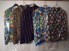 A collection of 5 Vintage 1990's tops /shirts to include - Jaeger , Warehouse and St Michael