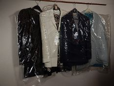 4 Jackets sizes 12-14 to include Lapidus and Planet and a black diamanté patterned jacket