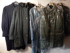 5 Coats/Jackets Vintage 1980/90's to include Clock House - C&A and Argatta