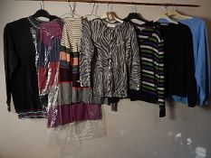 8 Various tops/Cardigans sizes 8 - 14 to include Wallis, East and Kew