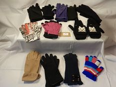 A collection of 12 pairs of gloves some fingerless to include - La Redoute.