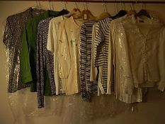 A collection of 10 tops/blouses size 10 - 14 to include Wallis and Next