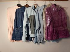 A selection of 6 various tops/jackets sizes 10-12 / M to include - Country Rose and Columbia USA.