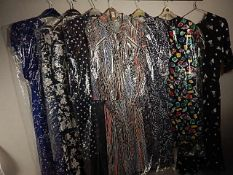 7 Dresses/ Skirt and blouse sets - Most Vintage 1980/90's sizes 12 - 16 to include St Michael, BHS