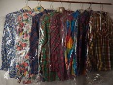 8 colourful Vintage 1980/90's Shirts to include - St Michael and Mark one sizes 10-12