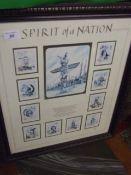 Spirit of a Nation framed cards