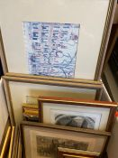 box of handcoloured engraving and prints