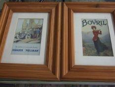 2 Modern Framed Prints 9 x 13 cm