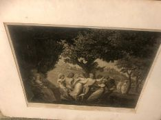 Engraving Village Dance approx 24 x 19