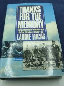 Thanks for the memory by Laddie Lucas, with dust cover 1989 edition