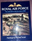 Royal Air Force Paintings by Michael Turner 1981 edition with dust jacket