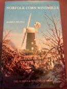 Norfolk Corn Windmills Harry Apling 1984 with dust jacket