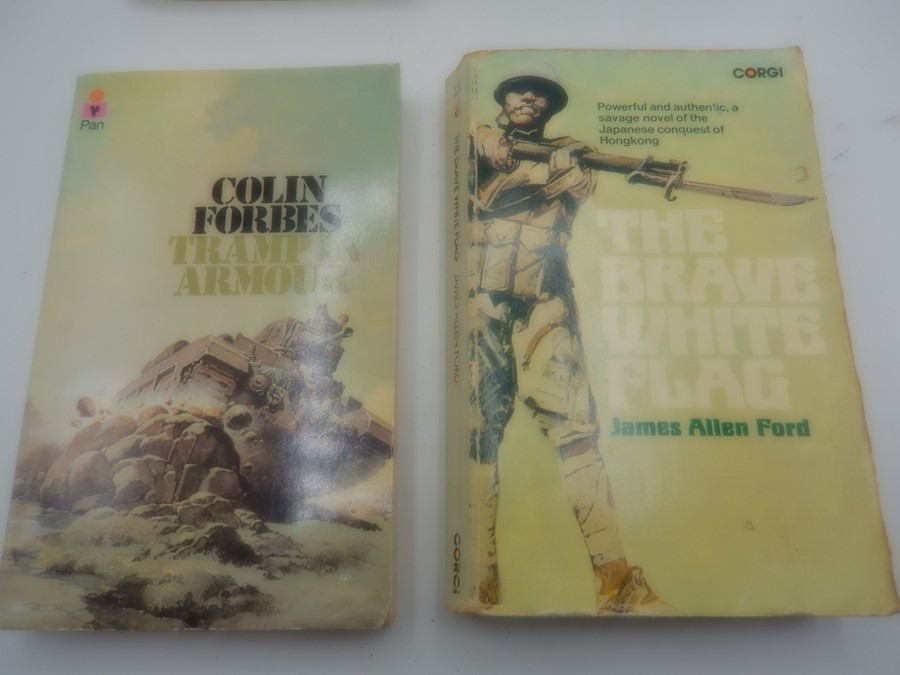 The brave white flag by James Allen Ford 1973. Tramp in armour by Colin Forbes 1979
