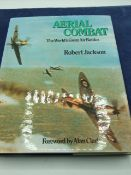 Aerial combat- The worlds greatest air battles by Robert Jackson with dust jacket. 1976 first
