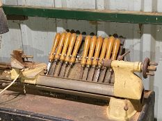 a set of lathe turning chisels