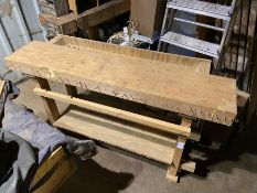 wood-working bench hand crafted