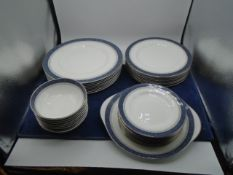 Royal Doulton SHERBROOKE English fine bone china dinner and tea set, 60+ pieces. Includes 8x