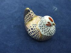 Royal Crown Derby Chicken with gold stopper