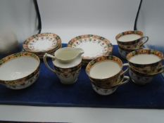'Sandon' tea set, made in England. includes 6 x cups and saucers, 6 x cake/sandwich plates, milk