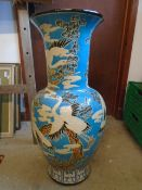 "Large Chinese vase with Herons 31"" tall."