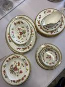 A Coalport Persian Flower pattern bone china to include: 1 vegetable server; 1 sauceboat and saucer;