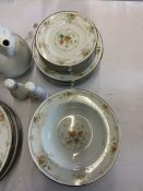 A quantity of Noritake Ireland Roundelay 3065 Colorful Floral Spray china to inlcude: 7 dinner