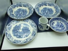 Qty Blue and White China ( some a/f )