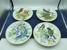 4 Bird Picture Plates and 4 Flower Picture Plates with certificates