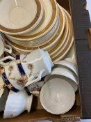 Assorted china to include: Wellington China; naritake; Burleigh Zenith; Colclough; Royal Albert